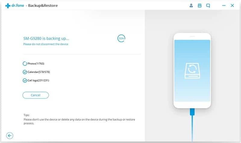 Android Dados Backup & Restauração Etapa 3