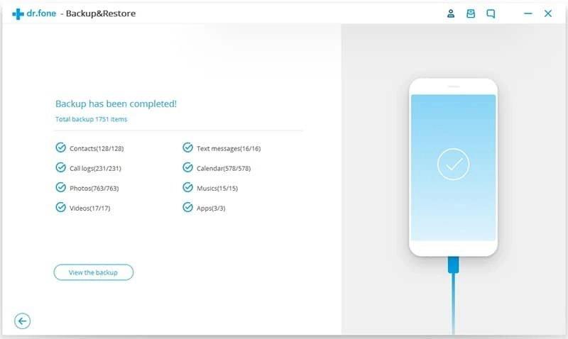 Android Dados Backup & Restauração Etapa 4