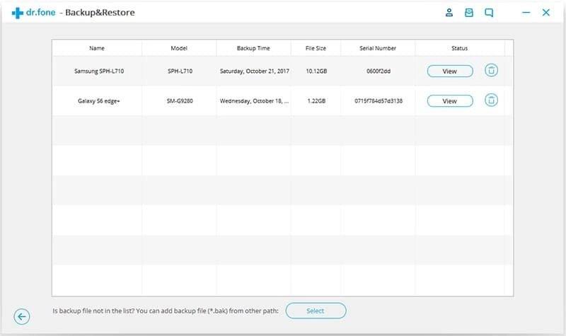 Android Dados Backup & Restauração Etapa 5