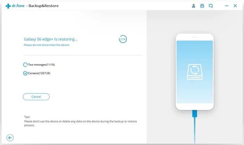 Android Dados Backup & Restauração Etapa 7