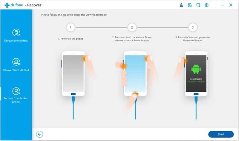 Android Dados Recuperação Passo 17