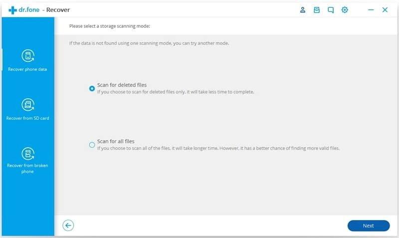 Android Dados Recuperação Passo 4