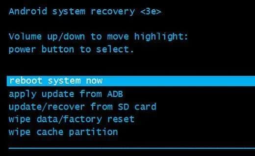 Modo de recuperação Android