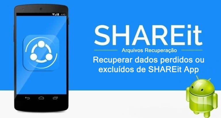 SHAREit App Dados Recuperação